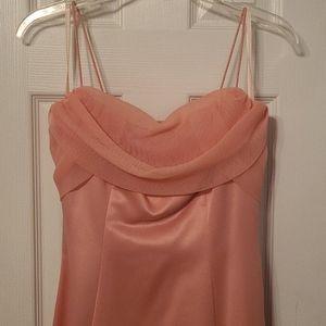 Peach Prom Formal Dress